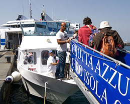 Transport to the Blue Grotto